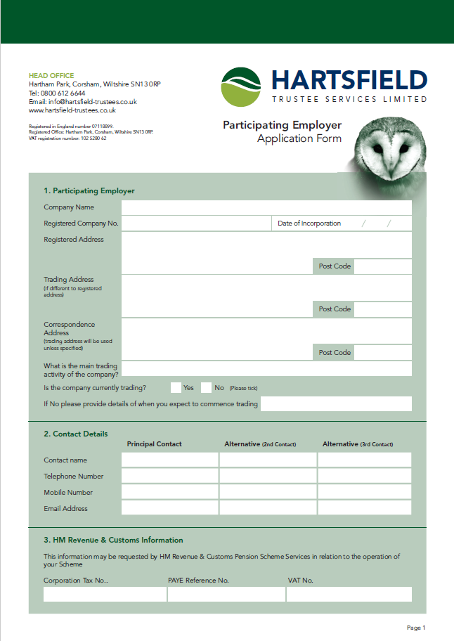Participating Employer Application Form