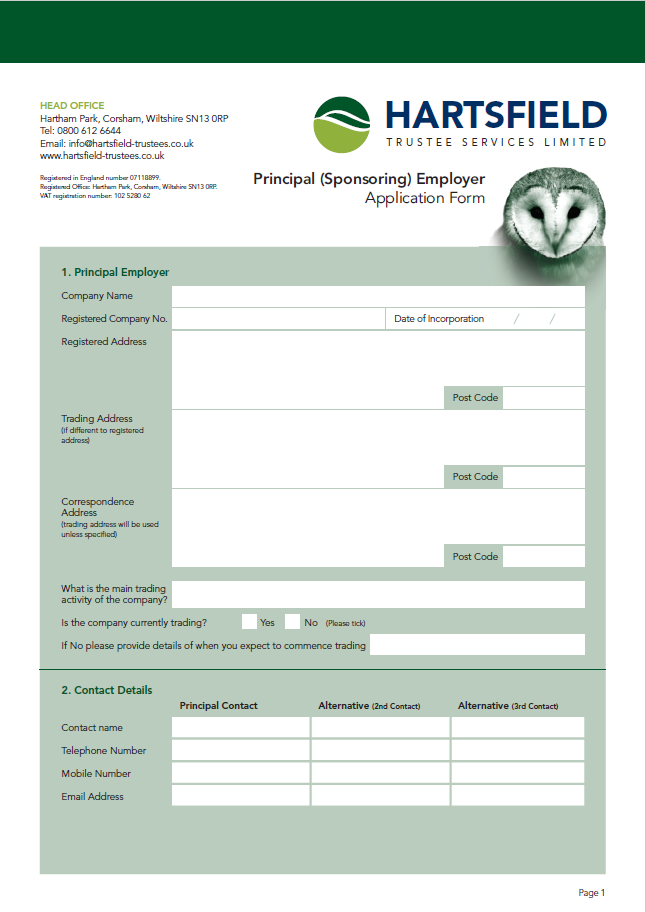 Sponsoring Employer Application Form